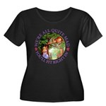 We're Al Women's Plus Size Scoop Neck Dark T-Shirt