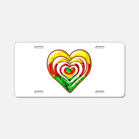 One Love Hearts Aluminum License Plate