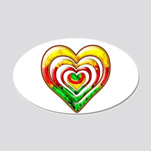 One Love Hearts 20x12 Oval Wall Decal
