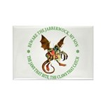 Beware the Jabberwock My Son Rectangle Magnet (100