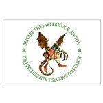 Beware the Jabberwock My Son Large Poster