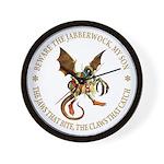 Beware the Jabberwock My Son Wall Clock