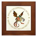 Beware the Jabberwock My Son Framed Tile