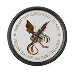 Beware the Jabberwock My Son Large Wall Clock
