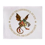 Beware the Jabberwock My Son Throw Blanket