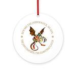 Beware the Jabberwock My Son Ornament (Round)