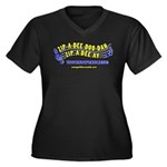 zipadeedoodah Women's Plus Size V-Neck Dark T-Shir