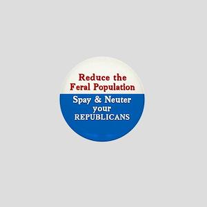 Spay Neuter Republican Mini Button