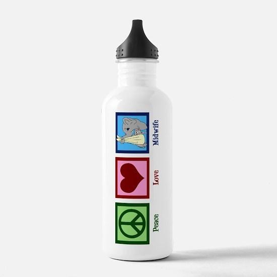 Peace Love Midwife Water Bottle