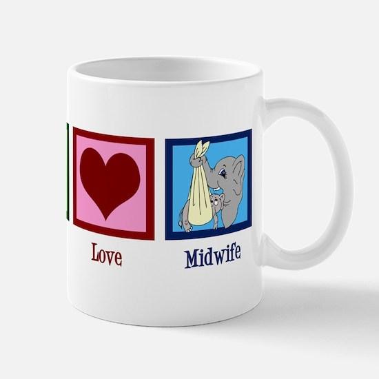 Peace Love Midwife Mug