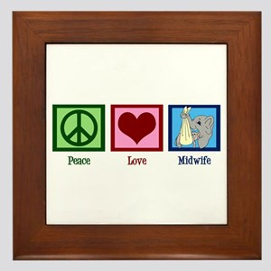 Peace Love Midwife Framed Tile