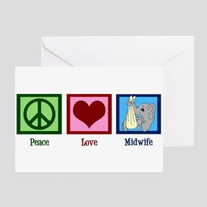 Peace Love Midwife Greeting Card
