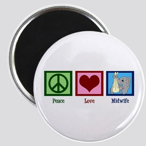 Peace Love Midwife Magnet