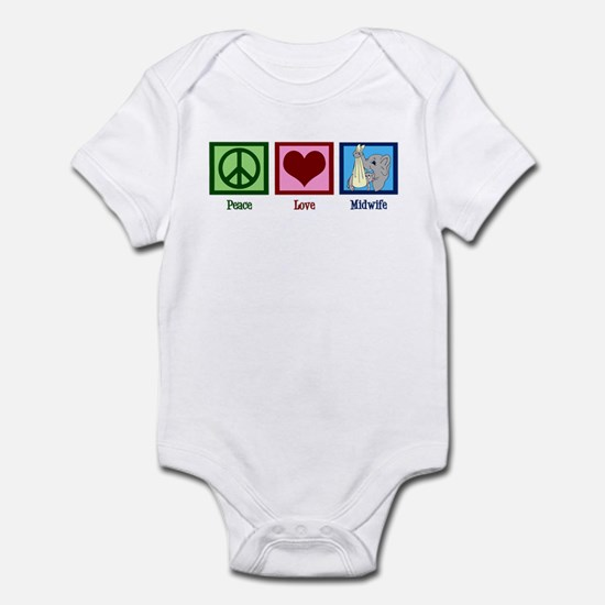 Peace Love Midwife Infant Bodysuit