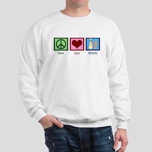 Peace Love Midwife Sweatshirt