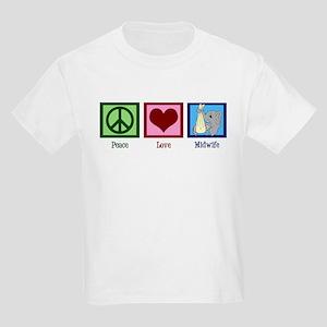 Peace Love Midwife Kids Light T-Shirt