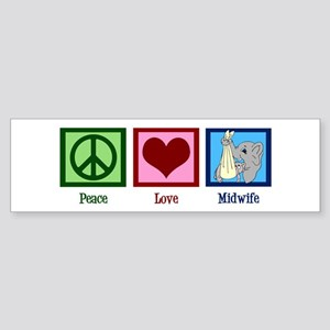 Peace Love Midwife Sticker (Bumper)