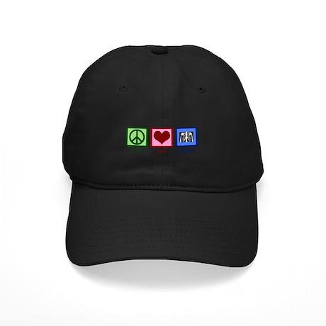 Peace Love Radiology Black Cap