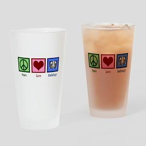 Peace Love Radiology Drinking Glass