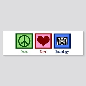 Peace Love Radiology Sticker (Bumper)