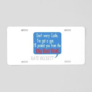Beckett Big Bad Wolf Quote Aluminum License Plate