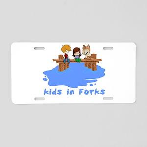 forksTkids Aluminum License Plate