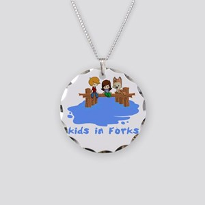 forksTkids Necklace Circle Charm