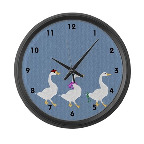 Struttin' Large Wall Clock