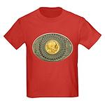 Indian gold oval 2 Kids Dark T-Shirt