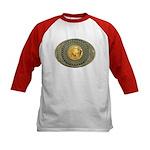 Indian gold oval 2 Kids Baseball Jersey