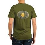 Indian gold oval 2 Organic Men's T-Shirt (dark)