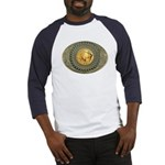 Indian gold oval 2 Baseball Jersey