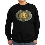 Indian gold oval 2 Sweatshirt (dark)