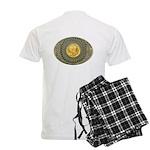 Indian gold oval 2 Men's Light Pajamas