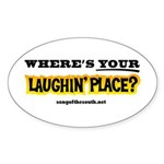 Laughin Place Sticker (Oval)