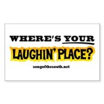 Laughin Place Sticker (Rectangle)
