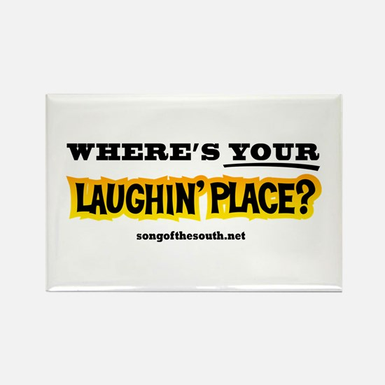 Laughin Place Rectangle Magnet