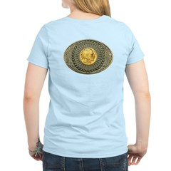 Indian gold oval 2 Women's Light T-Shirt