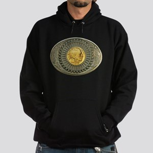 Indian gold oval 2 Hoodie (dark)