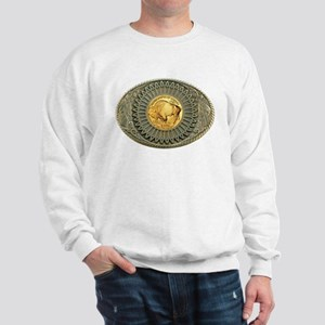 Indian gold oval 2 Sweatshirt