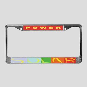 solar power bumper1 License Plate Frame