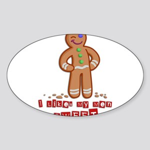 GingerBread Sticker (Oval)