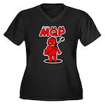 MQP Guitar Women's Plus Size V-Neck Dark T-Shirt