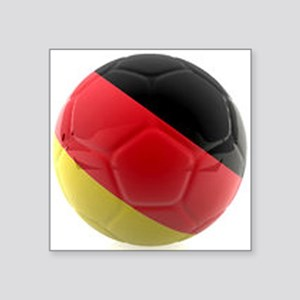 """Germany world cup ball Square Sticker 3"""" x 3"""""""