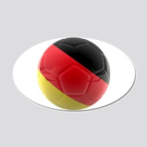 Germany World Cup Ball 20x12 Oval Wall Decal