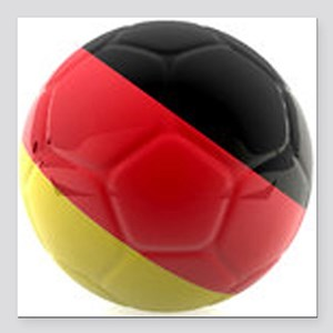 "Germany world cup ball Square Car Magnet 3"" x 3"""