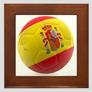 Spain world cup soccer ball Framed Tile