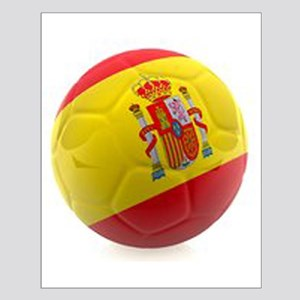 Spain world cup soccer ball Small Poster