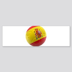 Spain world cup soccer ball Sticker (Bumper)