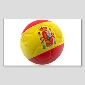 Spain world cup soccer ball Sticker (Rectangle)